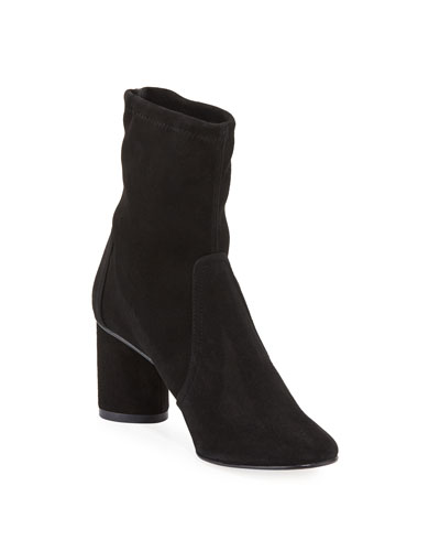 Margot Suede Pull-On Booties