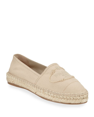 Canvas Slip-On Logo Espadrilles