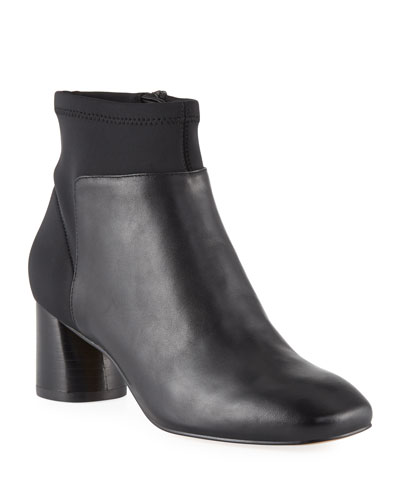 Cazzie Stretch Leather Booties
