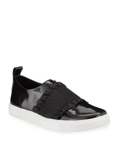 Sal Ruched Patent Slip-On Sneakers