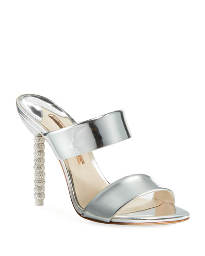 cd05e64d1c4ce0 Quick Look. Sophia Webster · Rosalind Metallic Leather Crystal-Heel Slide  Sandals
