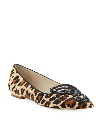 d37a47831bda Quick Look. Sophia Webster · Bibi Printed Butterfly Ballet Flats. Available  in Leopard