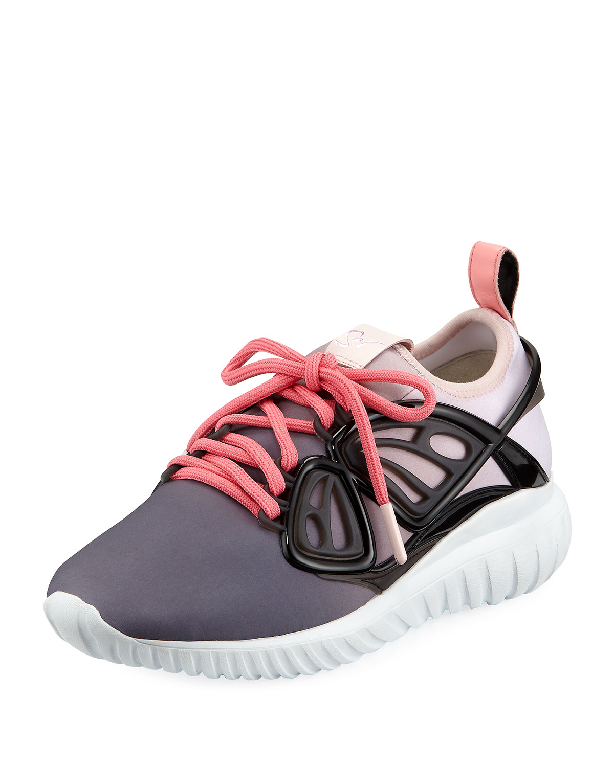 Fly By Scuba Chunky Sneakers with Vinyl Butterfly