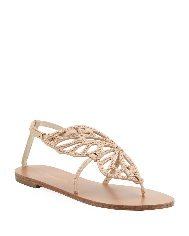 Bibi Butterfly Stud Flat Sandals