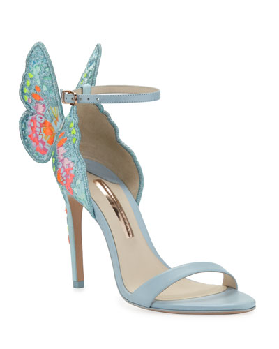 Chiara Embroidered Butterfly Sandals