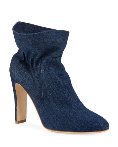 Steven Denim Pull-On Booties