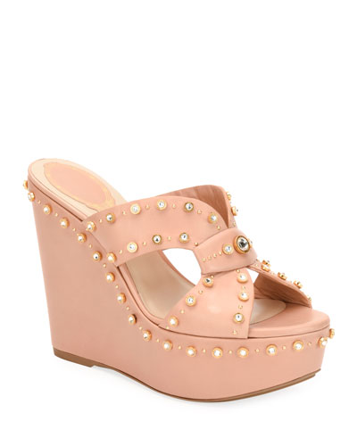 709ea8706e1 Quick Look. Rene Caovilla · Studded Platform Wedge Slide Sandals