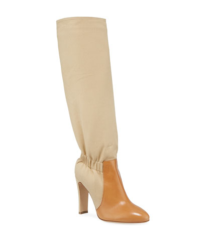 Shadia Fabric Over-The-Knee Boots