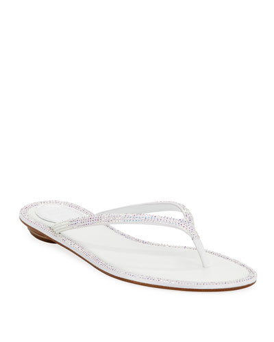 Flat Crystal Thong Sandals