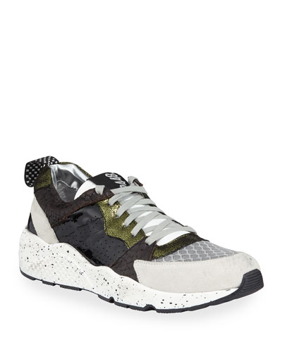 Alex Colorblock Mixed-Media Trainer Sneakers