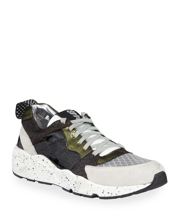 Alex Colorblock Mixed-Media Trainer Sneakers