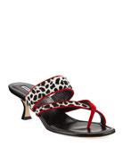 Manolo Blahnik Susa Fur Slide Sandals