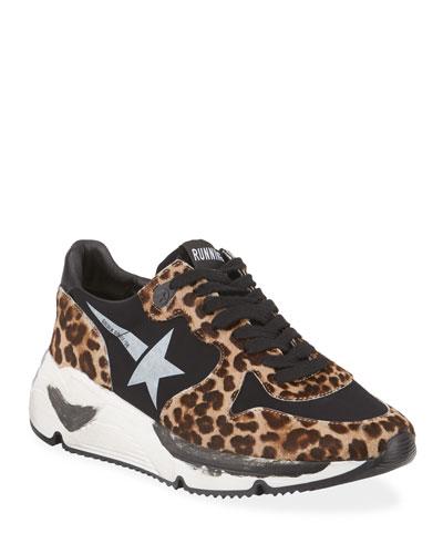 Leopard-Print Running Sneakers