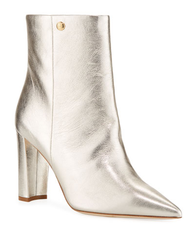Penelope Metallic 90mm Booties