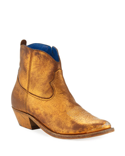 Young Metallic Western Boots