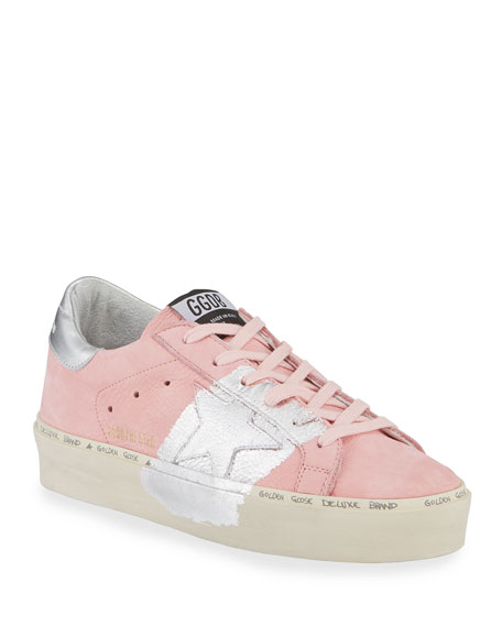 Golden Goose Hi Star Metallic-Trim Leather Sneakers