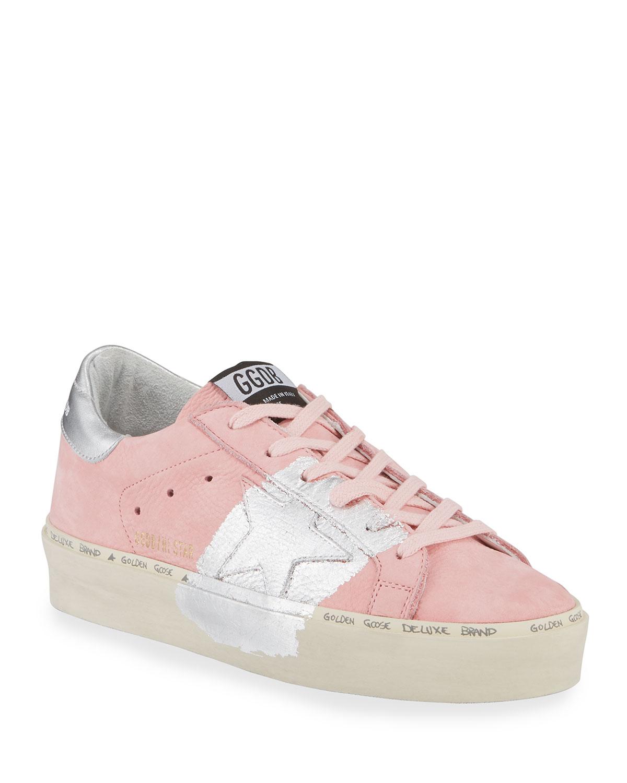 Hi Star Metallic-Trim Leather Sneakers