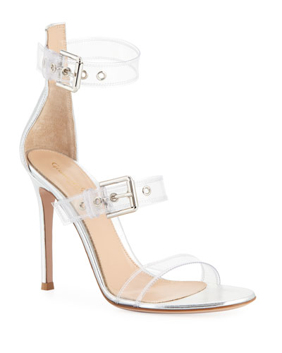 Metallic Plexi High Sandals