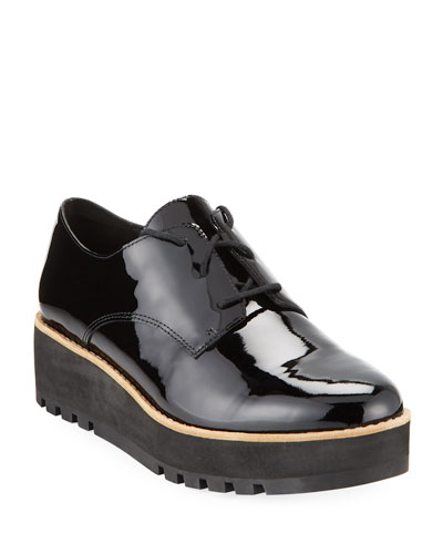 Eddy Patent Platform Dress Shoes