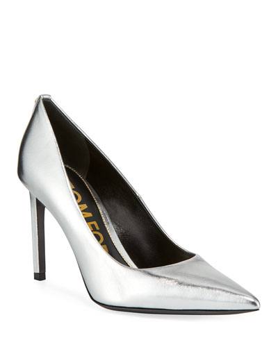cb7993931c Quick Look. TOM FORD · 85mm Metallic Leather Point-Toe Pumps