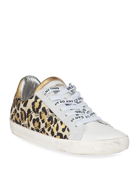 Zadig & Voltaire Leo Wild Platform Sneakers