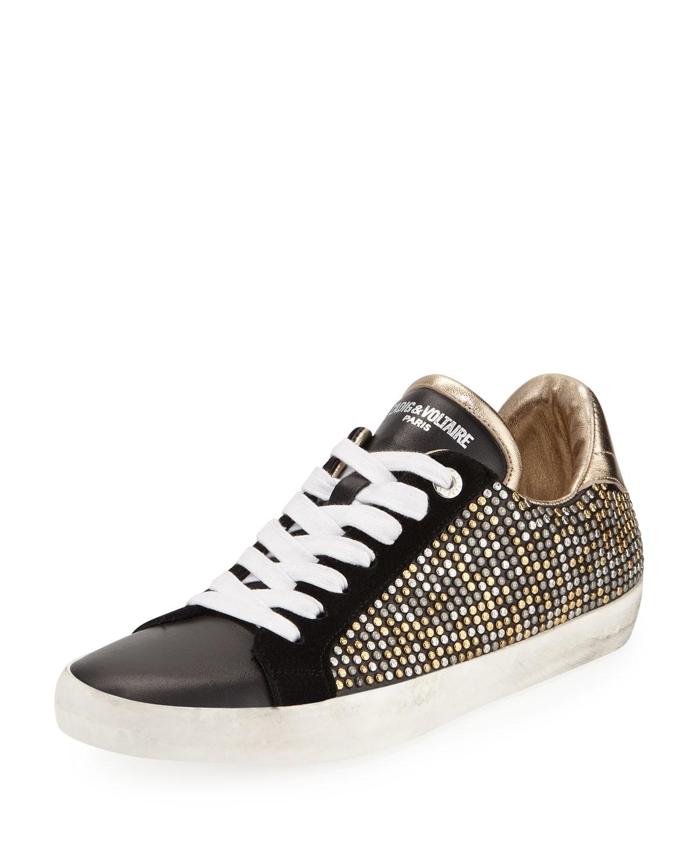 AO Studded Platform Sneakers