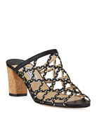 Jimmy Choo Dean Braided Rope & Leather Cutout