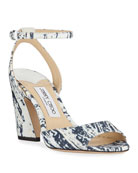 Jimmy Choo Miranda Bleached Denim Sandals