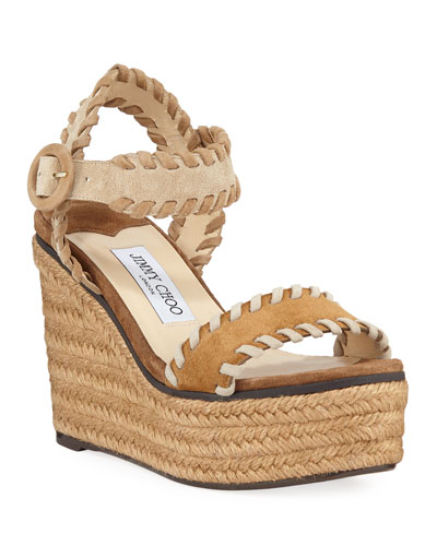 f72ece4cce41 Quick Look. Jimmy Choo · Abigail Whipstitched Platform Espadrilles