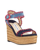 Jimmy Choo Abigail 100mm Whipstitched Espadrilles