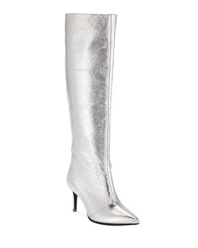 Silver Boots Neiman Marcus