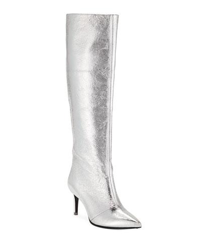 Beha Metallic Knee Boots