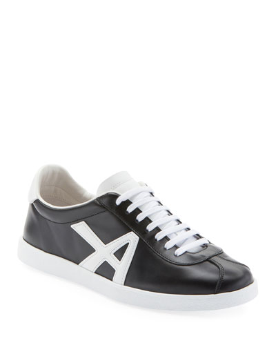 The A Two-Tone Leather Sneakers