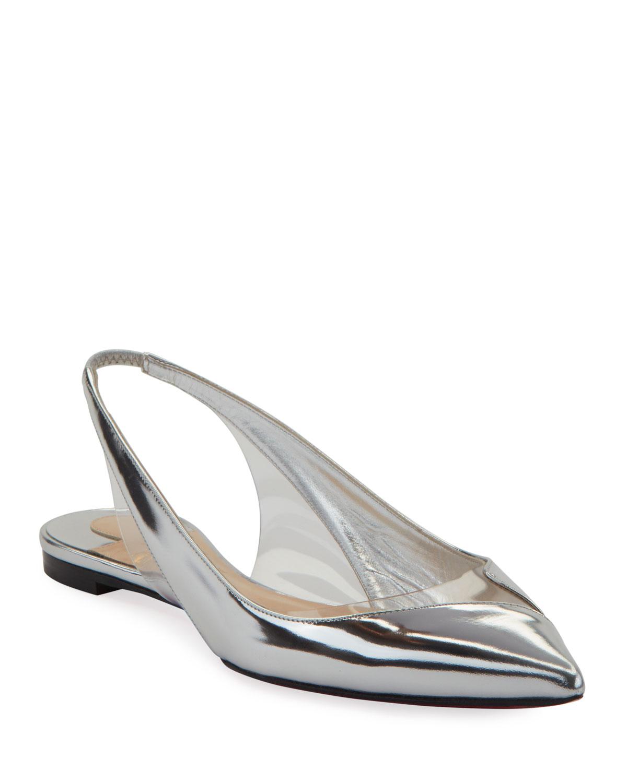 V Dec Specchio Red Sole Ballet Flats