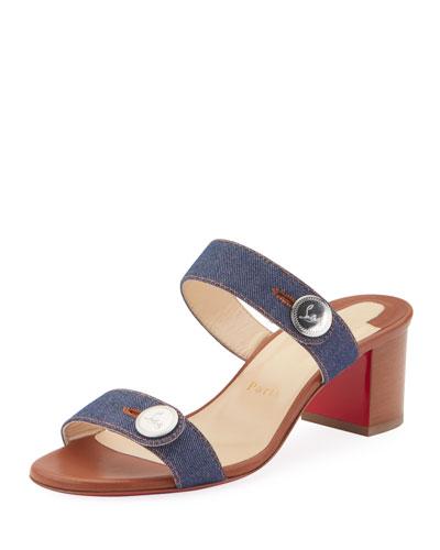 Sandenim 55 Red Sole Slide Sandals