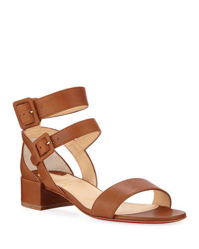 Multipot 25 Leather Red Sole Sandals