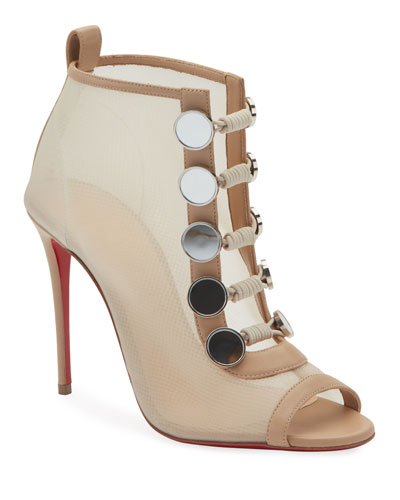 Marikat Open-Toe Toggle Red Sole Booties