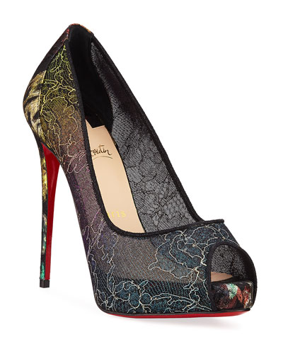 aeeaebe3288 Quick Look. Christian Louboutin · Very Lace 120mm Rainbow Peep-Toe Red Sole  Pumps