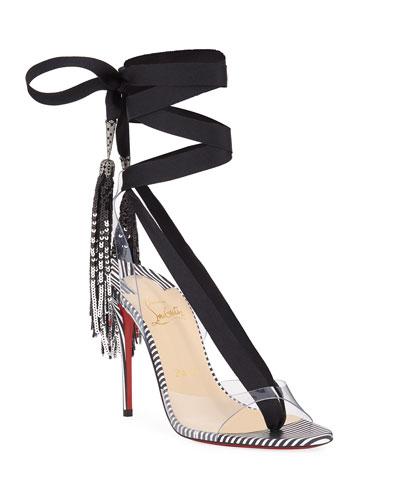 Marie Paillette 100 Red Sole Sandals