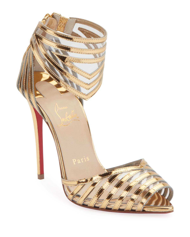 Maratena 100 Metallic/PVC Red Sole Sandals