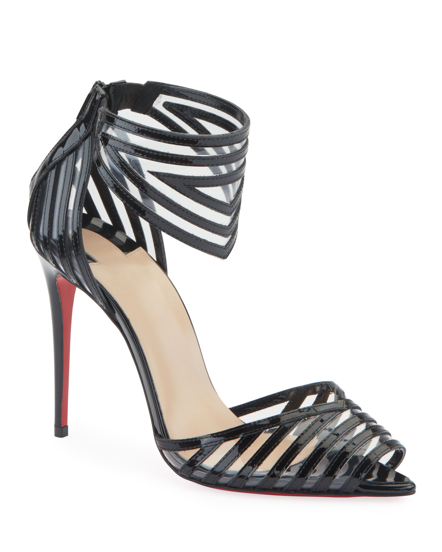 Maratena 100 Patent/PVC Red Sole Sandals