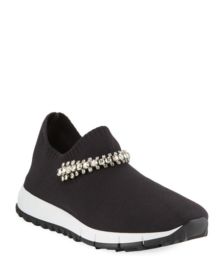 Jimmy Choo Verona Sneakers with Crystal Strap