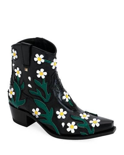 Ranch Daisy Applique Boots