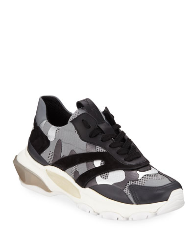 Bounce Camo Lace-Up Sneakers