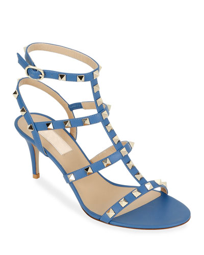 Rockstud Caged Ankle-Strap Sandals