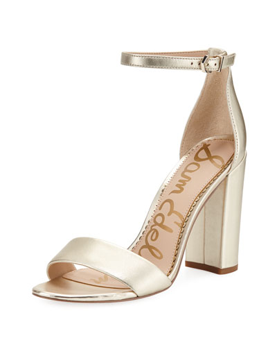 1cc9c00e53a Quick Look. Sam Edelman · Yaro Metallic Block-Heel Sandals