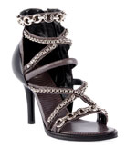 Chloe Victoria Wrap Chain Sandals