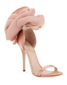 Giuseppe Zanotti Satin Flower High Sandals