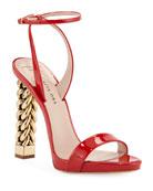 Giuseppe Zanotti Patent Leather Chain-Heel Sandals