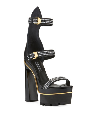 882265d97d844 Quick Look. Versace · Triple Strap Platform High-Heel Sandals